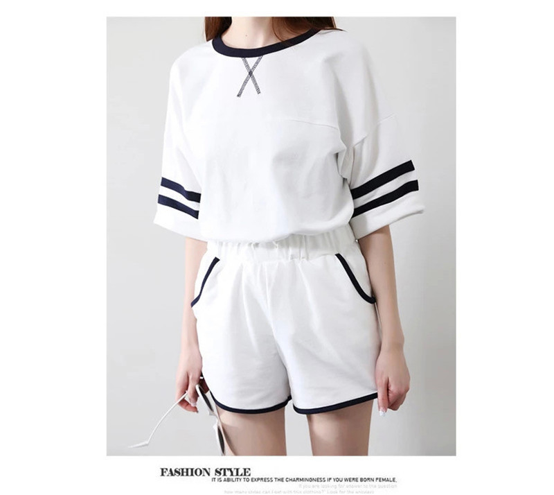 Women Pajama Sets Patchwork New Summer Short Sleeves Shorts Women Sleepwear Cute Simpl Homewear For Ladies Sleep Lounge