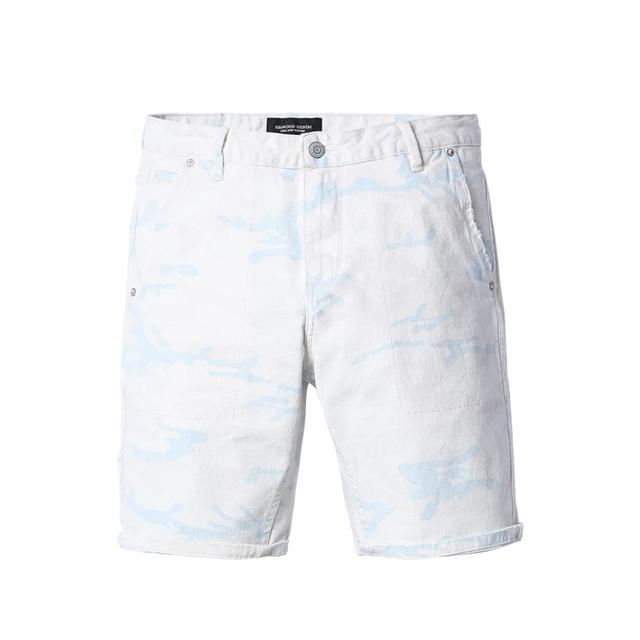 Men's Denim Shorts Casual Cotton Knee Length