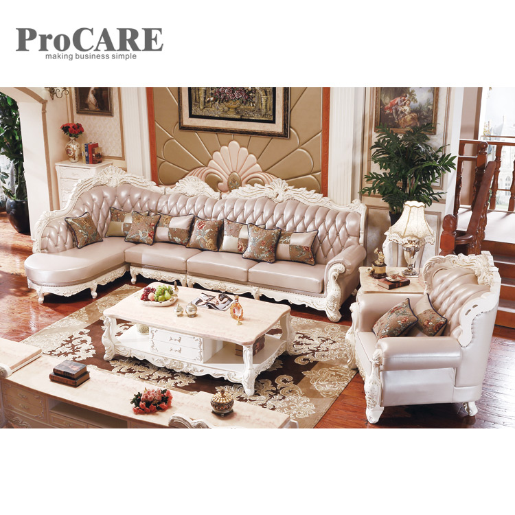 US $4099.0 |Modern italian style corner wooden sofa set designs A951B-in  Living Room Sofas from Furniture on AliExpress