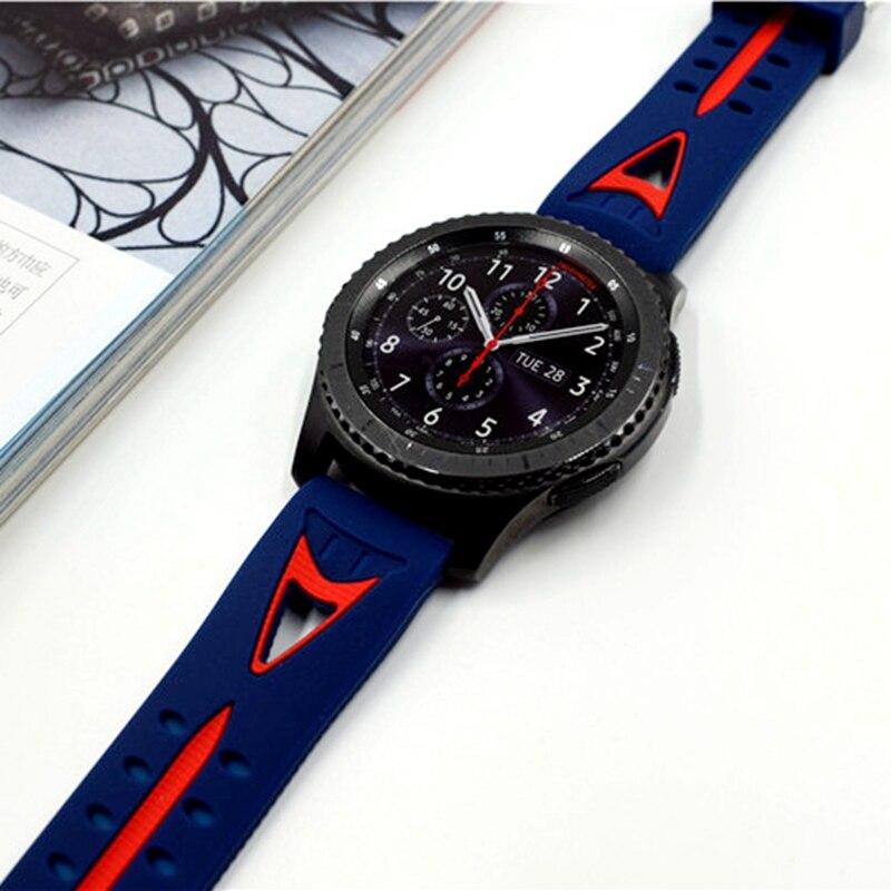 Date 22mm sourire Sport Bracelet En Silicone bracelet de montre de bande Pour Samsung Vitesse S3 Classique Frontière bracelets de haute qualité