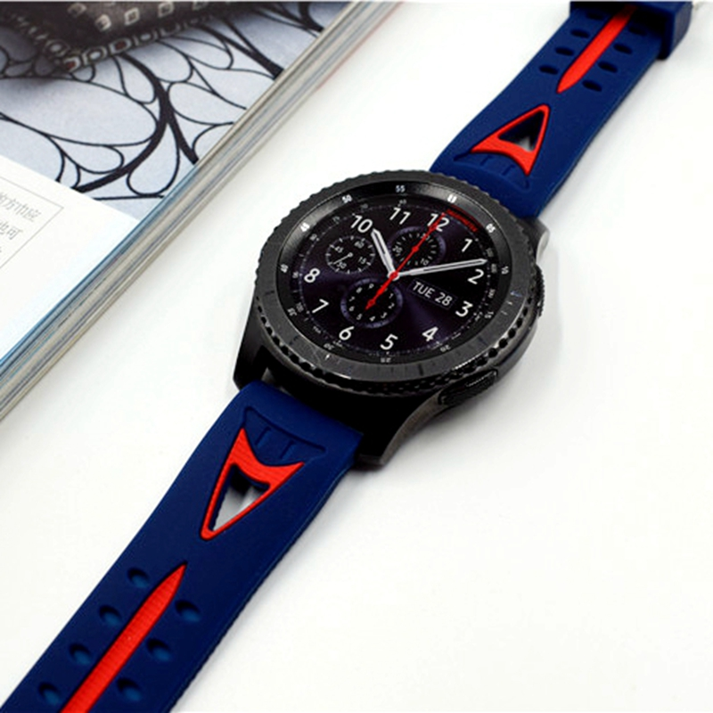 Newest 22mm Smile Sports Silicone Bracelet Watch Strap Band For Samsung Gear S3 Classic Frontier Watchbands High Quality silicone bracelet strap watch band for samsung gear s3 frontier classic 22mm silicone rubber watchbands strap gear s3 classic