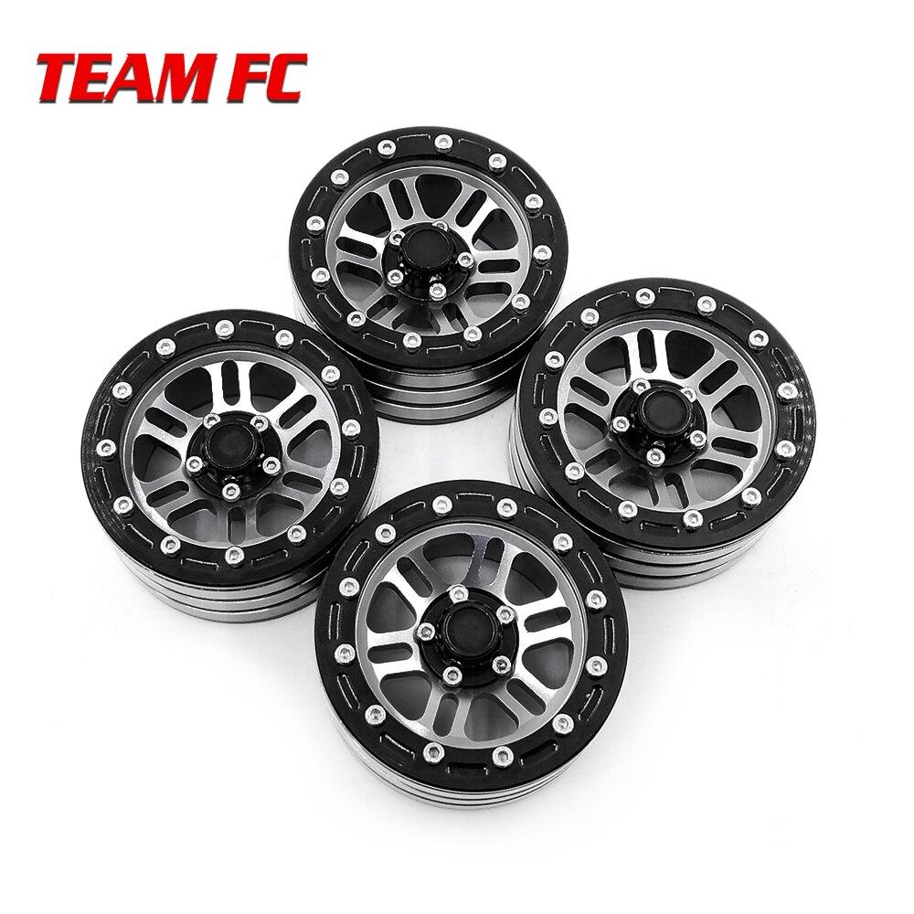 4PCS Metal Beadlock 1.9 Wheel Rim for 1/10 RC Rock Crawler TRX-4 TRX4 D90 D110 TF2 Axial SCX10 90046 S206