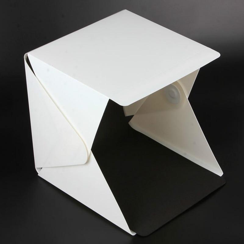 NEW Portable Folding Lightbox Photography Studio Softbox LED Light Soft Box for iPhone Sam