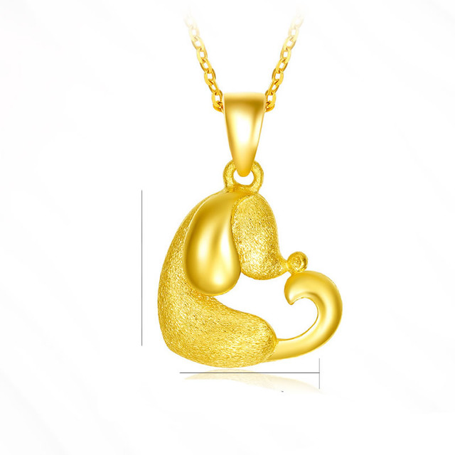 Pure 24k yellow gold zodiac heart dog pendant 3d designer animal pure 24k yellow gold zodiac heart dog pendant 3d designer animal pendant 26g aloadofball Images