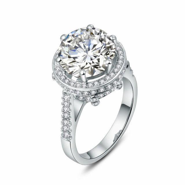 Fabuleux Magnifique Bijoux Moissanite Anneau Bague en Diamant 5 Carat  EI31