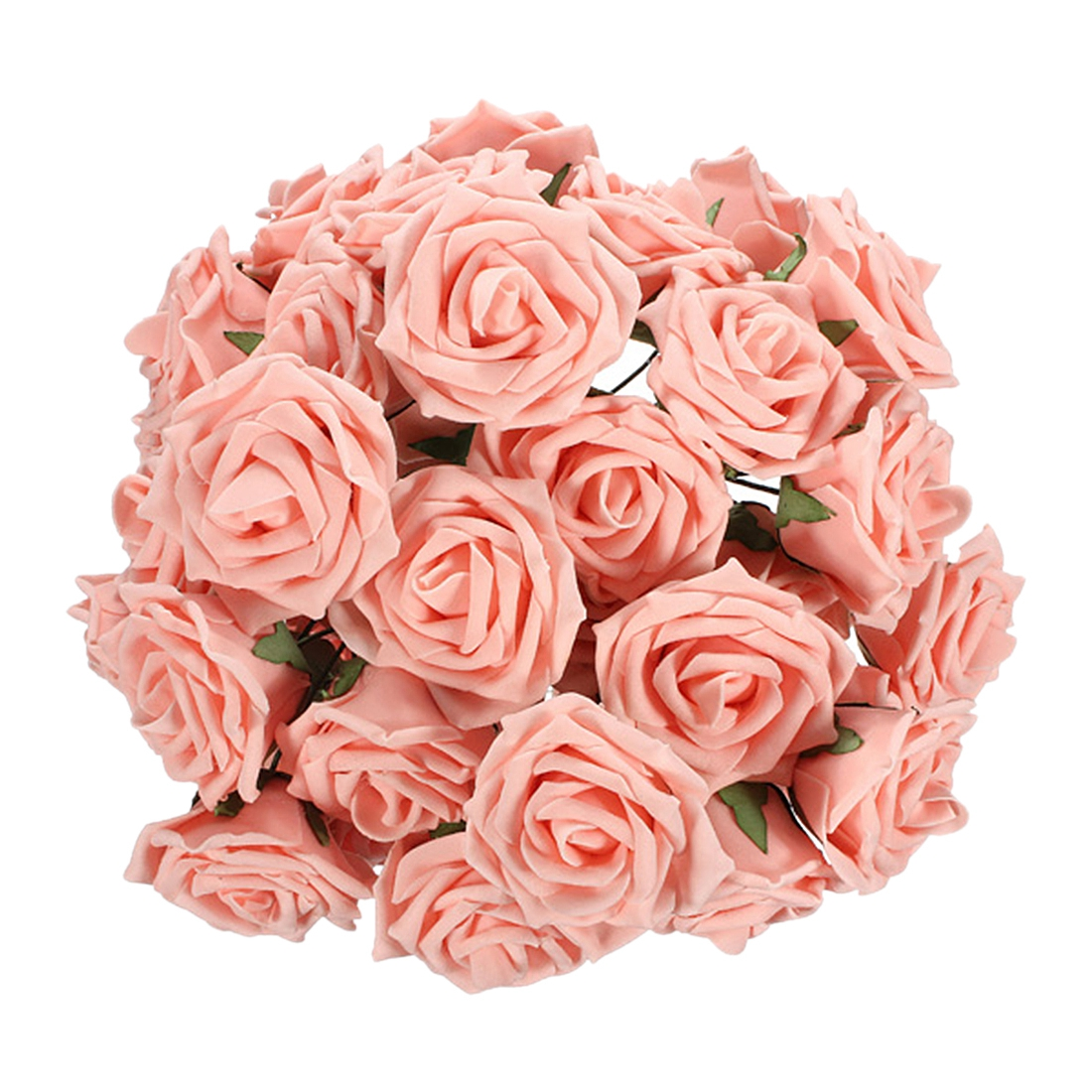 50 Pieces  Pack Home Decorative Flowers 2 Colors PE Foam Artificial Rose Flowers For Wedding Valentine's Day Decoration