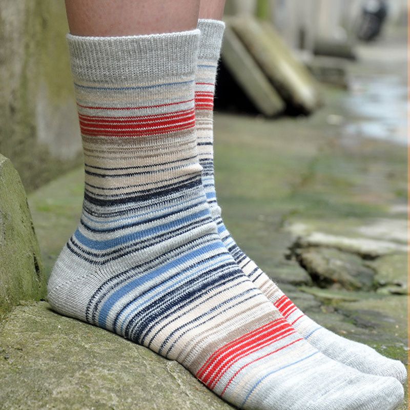 PEONFLY Japan Restore Ways Man Wind Full Cotton Original Tiny stripes Male happy funny novelty Socks colorful lot men 3PAIRS/LOT