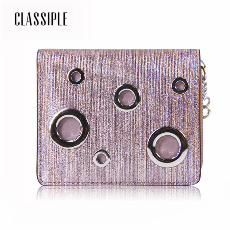Fashion Women Short Wallet Genuine Leather Tassel Zipper Silver Female Handbag Money Coin Purses Holder Short Girl Buckle Wallet