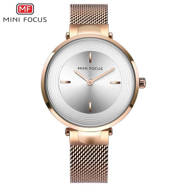 2a613b8d1ab MINIFOCUS Luxury Brand Lady Watch for Woman Watches Women Quartz Women s  Wristwatch Rose Gold Relogio Feminino Montre Femme 2018