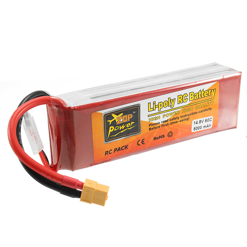 ZOP Power 14.8V <font><b>5000mAh</b></font> <font><b>4S</b></font> 60C <font><b>Lipo</b></font> <font><b>Battery</b></font> Rechargeable XT60 Plug Connector For RC Quadcopter Models Toys image