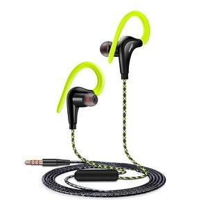 Image 5 - سماعات رياضية مقاومة للماء سماعات رياضية للركض مع مايكروفون سماعات أذن بسماعات باس للجوال سماعات موسيقى شاومي