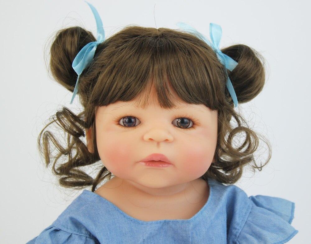 55cm silicone cheio reborn boneca do bebe 05