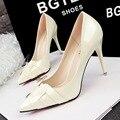 Mulheres bombas de marca sapatos de salto alto salto fino casamento preto vermelho orange vestido sapatos 2016 clássico de luxo designer de sapatos bomba smyds-a0060