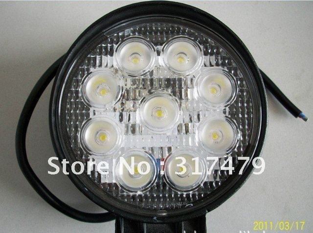 Super bright New Arrival-27W tractor offroad LED work light,working lamp,Fog light kit,free shipping