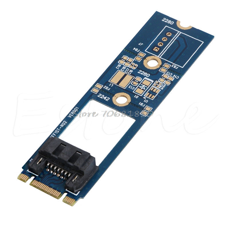 M.2 NGFF To 7 Pin SATA III 3 SSD NGFF1ST-N02 Adapter Converter Board Card PCB laete n02 119 2