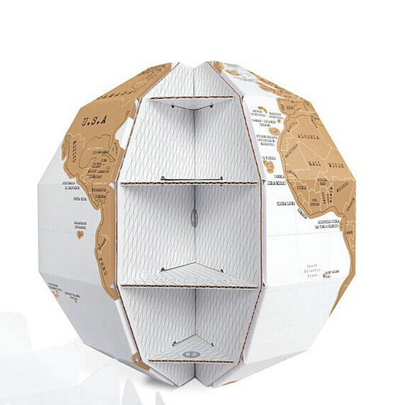 Novelty 3D Stereo Globe World Map DIY Scratch Globe Assembly Travel Gift Home/Office Decor Childrens Gift Free Shipping