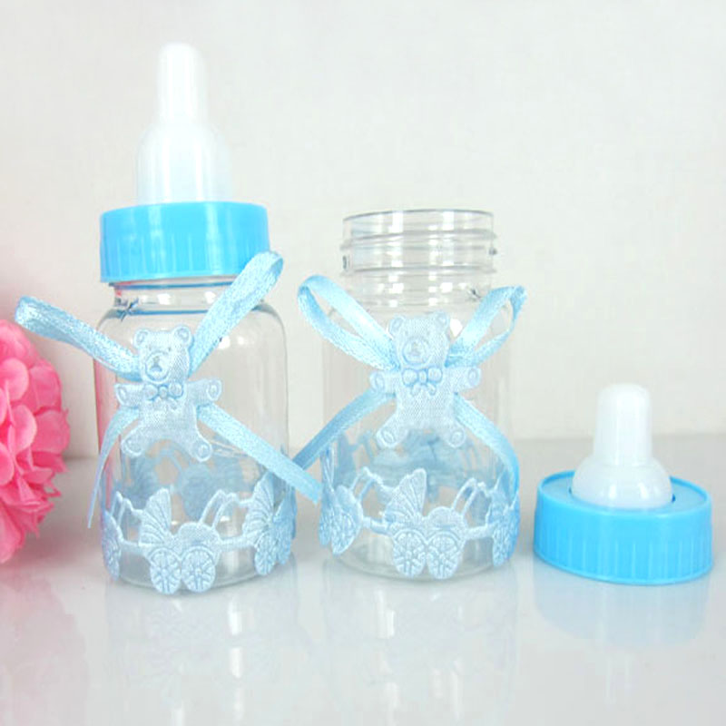 60pcs fillable bottle wedding candy box baby shower favors baptism for party wedding decorations 40 x