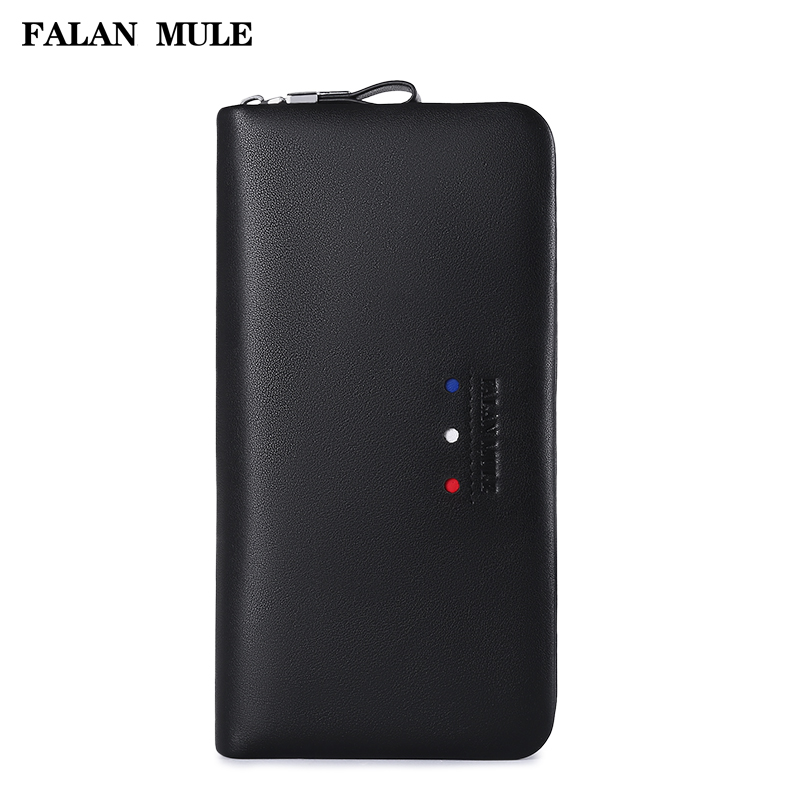 FALAN MULE 2018 New Arrival Luxury Wallet Brand Wallet Men Genuine Leather Wallet Purse Long Coin Purse Men Purse For iPhone 7 S 2017 new wallet small coin purse short men wallets genuine leather men purse wallet brand purse vintage men leather wallet page 7