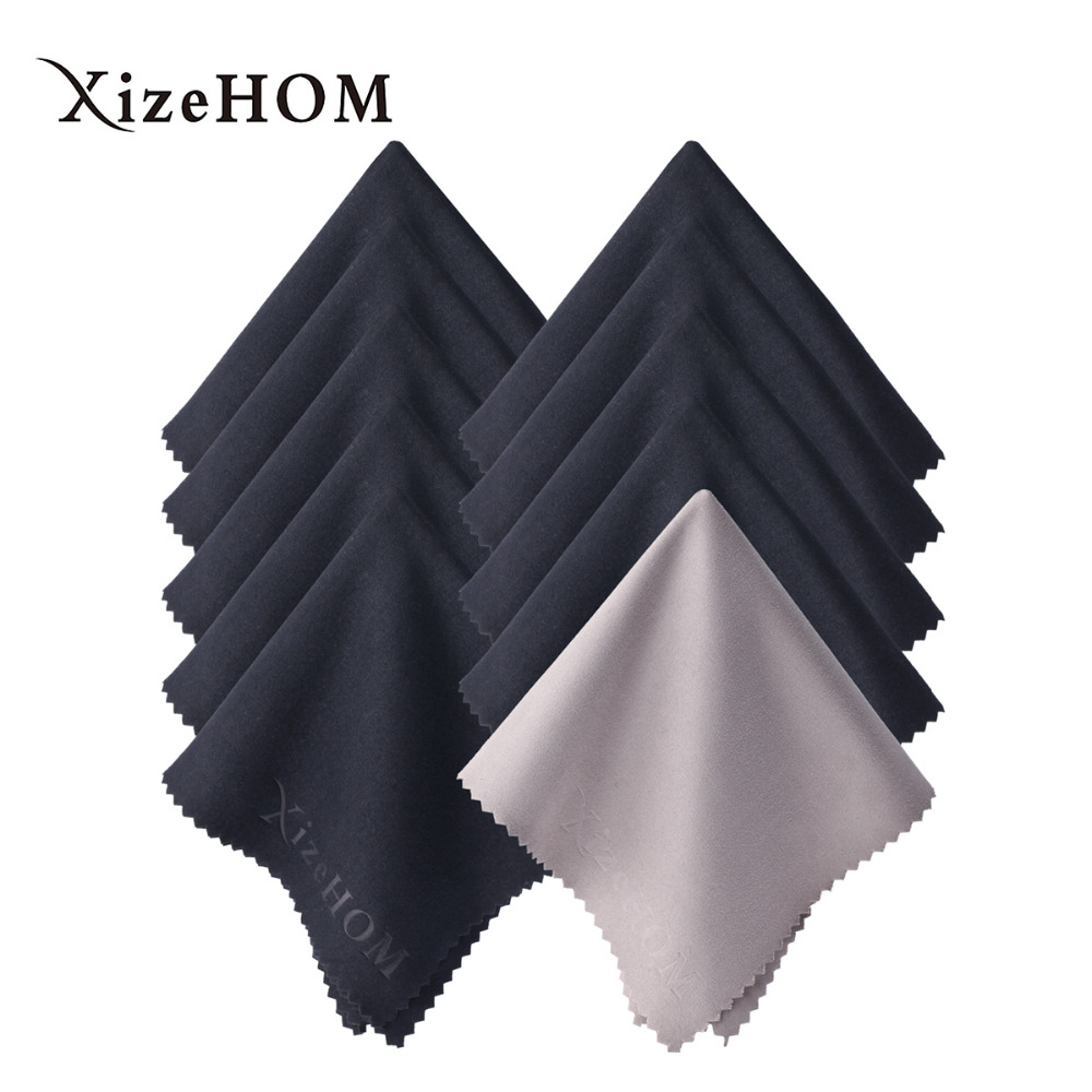 XizeHOM Cleaner Clean Glasses Lens Cloth Wipes For Sunglasses Microfiber Eyeglass Cleaning Cloth (15*18cm, 10pcs)