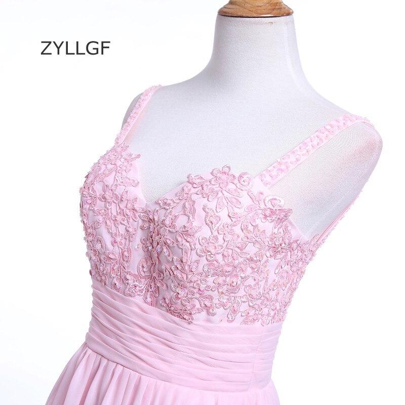 ZYLLGF Rosada Larga Vestidos de Baile Vaina Novia Correa de ...