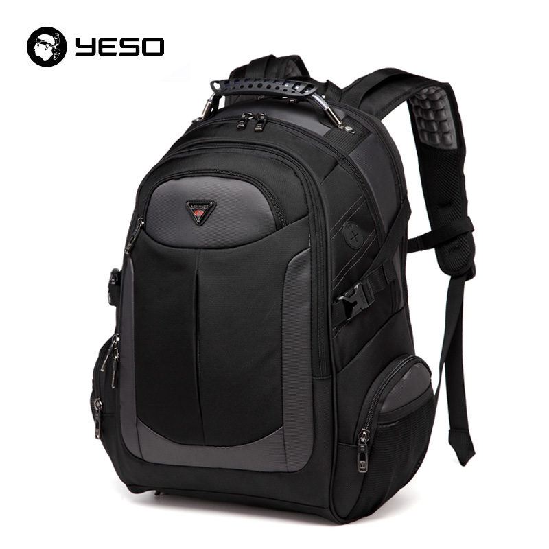 Yeso Brand Laptop Backpack Men's Travel Bags Multifunction Rucksack Waterproof Oxford Black Computer Backpacks For Teenager