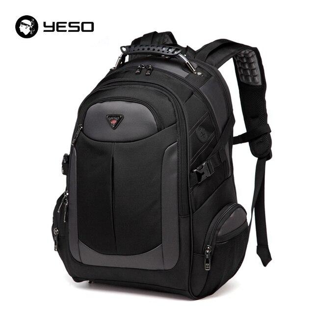 YESO Brand Laptop Backpack Men's Travel Bags 2019 Multifunction Rucksack Waterproof Oxford Black Computer Backpacks For Teenager