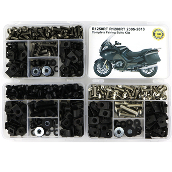 Fit For BMW R1250RT R1200RT 2005-2013 Complete Fairing Kit Full Fairing Bolts Kit Screws Speed Nuts Clips Steel for yamaha tmax 530 tmax530 2012 2019 complete full fairing bolts kit bodywork screws steel clips speed nuts covering bolts