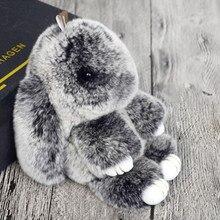 2017 Hot Selling Cute Play Rabbit Fur Hanging Pendant Rabbit Bunny Key chain Fashion fur key