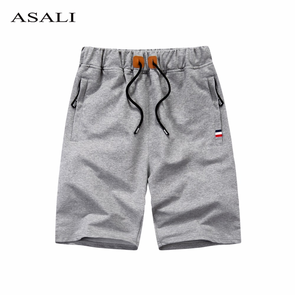 Cotton Men Shorts Homme Summer Beach Slim Fit Bermuda Breathable Solid Color Joggers Trousers Elastic Waist Casual Short Pants