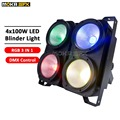 4*100 W 4 Augen LED Blinder Licht DMX COB publikum blinder lichter Professional Bühnen Beleuchtung Für Party Dance boden-in Bühnen-Lichteffekt aus Licht & Beleuchtung bei