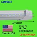 (30 Упак.) бесплатная Доставка СВЕТОДИОДНЫЕ Трубки 4FT 120 см 24 Вт T8 G13 лампы работы в существующих светильник модернизации свет 85-277 В Шток в США НЕТ Налога