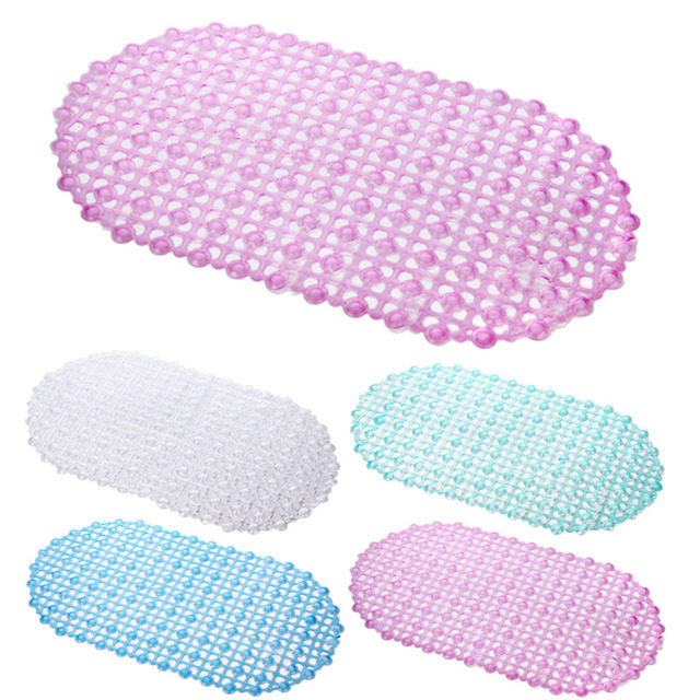 PVC Strong Non Slip Bathroom Bath Floor Shower Tub Mat Massage Pad Suction Cup Foot Massage E2S