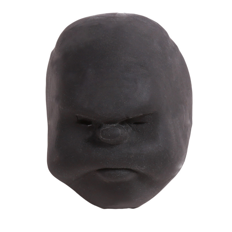 Забавная Новинка каомару, антистрессовая игрушка с мячом, с человечеловеческим лицом, удивище, сюрприз, эмоция, шар из смолы, расслабляющая, для взрослых, игрушка для снятия стресса, подарок - Цвет: Black 2