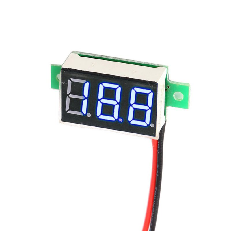 1 pc DC 4 30V Mini Red LED Panel Voltage Meter Digital Adjustment Voltmeter New Arrival