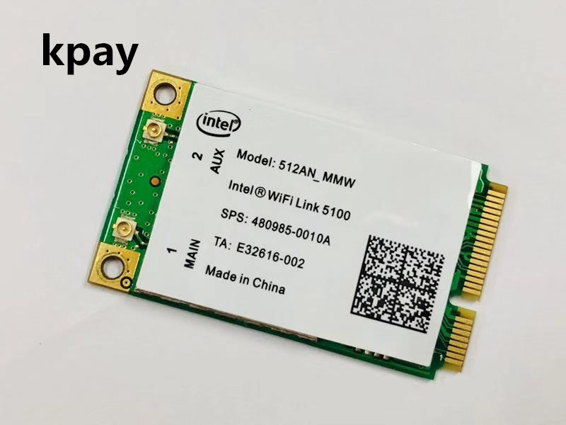 For Intel Link 5100 WIFI 512AN_MMW 300M Mini PCI E Wireless WLAN Card 2.4/5GHz #kpay#-in Network Cards from Computer & Office