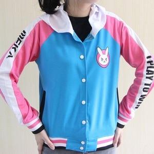 Image 2 - Ropa de Anime sudadera de juego DVa disfraz de Cosplay D.Va abrigo de béisbol para adulto D.Va chaqueta femenina Cosplay sudaderas finas para hombres y mujeres