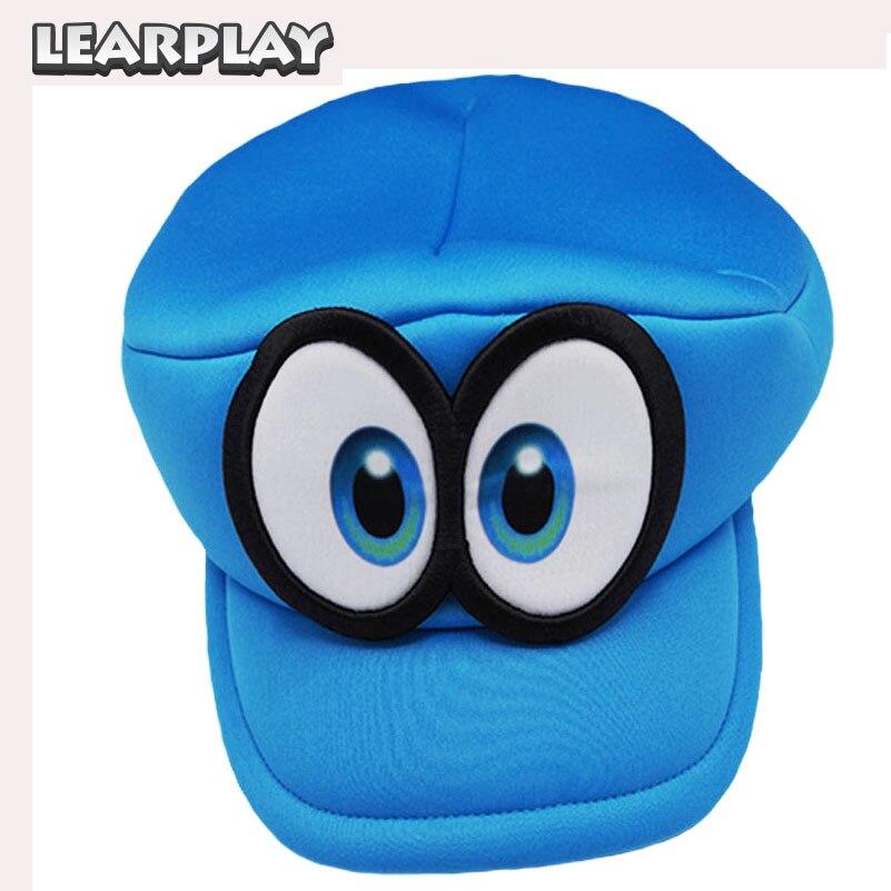Gioco Super Mario Run Cappy occhi Cosplay Cappelli Super fratelli Spugna  Adulti Morbidi Bambini cappelli Rosso Blu per il Bambino Gfits c348b40a8aa2