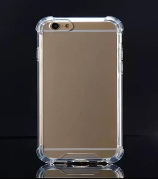 100pcs lot For iPhone 7 8 6S Plus XR XS Max 5S SE Transparent Shockproof TPU