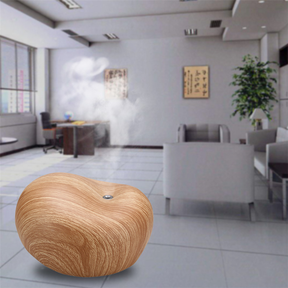 200ml uk plug essential oil diffuser mist maker aroma diffuser ultrasonic humidifier light woodgrain for car cheap office lighting