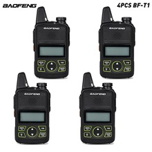 4pcs/lot Original BAOFENG BF T1 MINI Kids Walkie Talkie UHF Portable Two Way Radio Ham T1 Walkie Talkie USB HF Transceive
