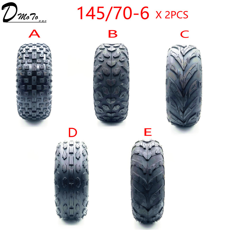 Intellective 2pcs/lot Of 6 Inch Atv Tire 145/70-6 Four Wheel Vehcile Fit For 50cc 70cc 110cc Small Atv Front Or Rear Wheels Atv Parts & Accessories