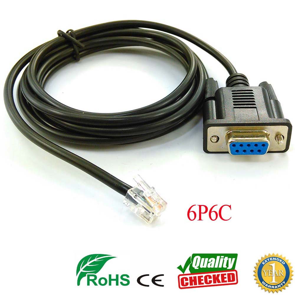 DM432C DM442 DM556 DM856 3DM683 AM882 DB9 Rs232 To Rj11 Rj12 6p6c Adapter For Leadshine Stepper Drive Servo Motor Pc Link Cable