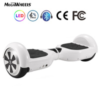 (EU) Bluetooth 6.5 Megawheels Self Balance Electric Scooter with Remote Control Bag DE Warehouse Free DHL Shipping (White)