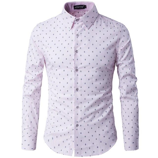 0530e96174 Amazon Calidad Envío de La Gota 2016 Nueva Primavera de La Moda Camisas Slim  Fit Hombres