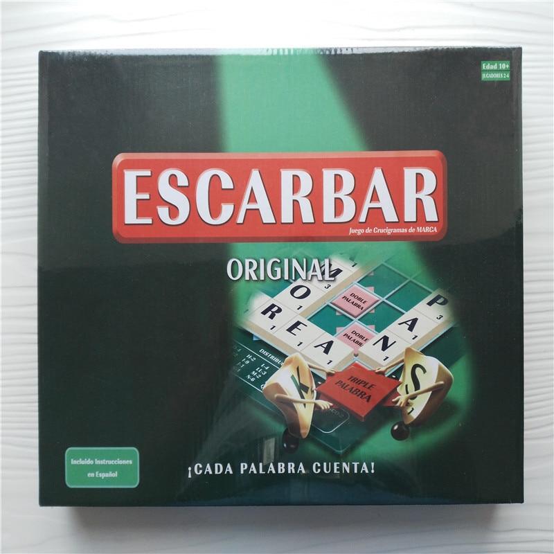 წერილი თამაშები ესპანური Scrabble თამაშები ბრენდი თავსატეხი თამაშები ორიგინალური სიტყვა შესატყვისი თამაშები CADA PALABRA CUENTA SG-006