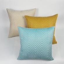 New Style Soft Plush Handmade Cushion Cover 45*45cm Sofa Throw Pillow Covers Home Decor Pillowcases Striped