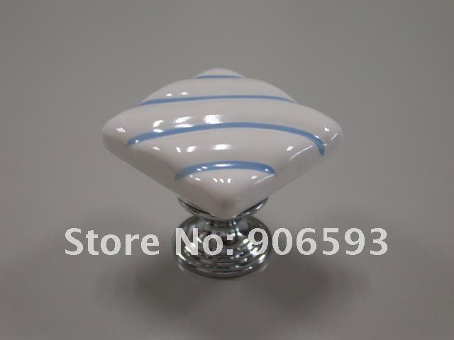 Купить с кэшбэком 10pcs lot free shipping square painting ceramic furniture knobs