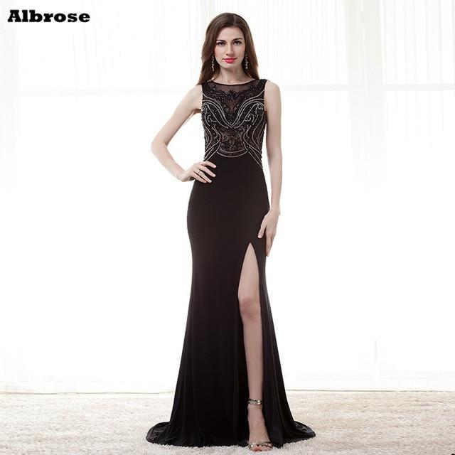 Aliexpress Buy Floor Length High Slit Formal Dress Long