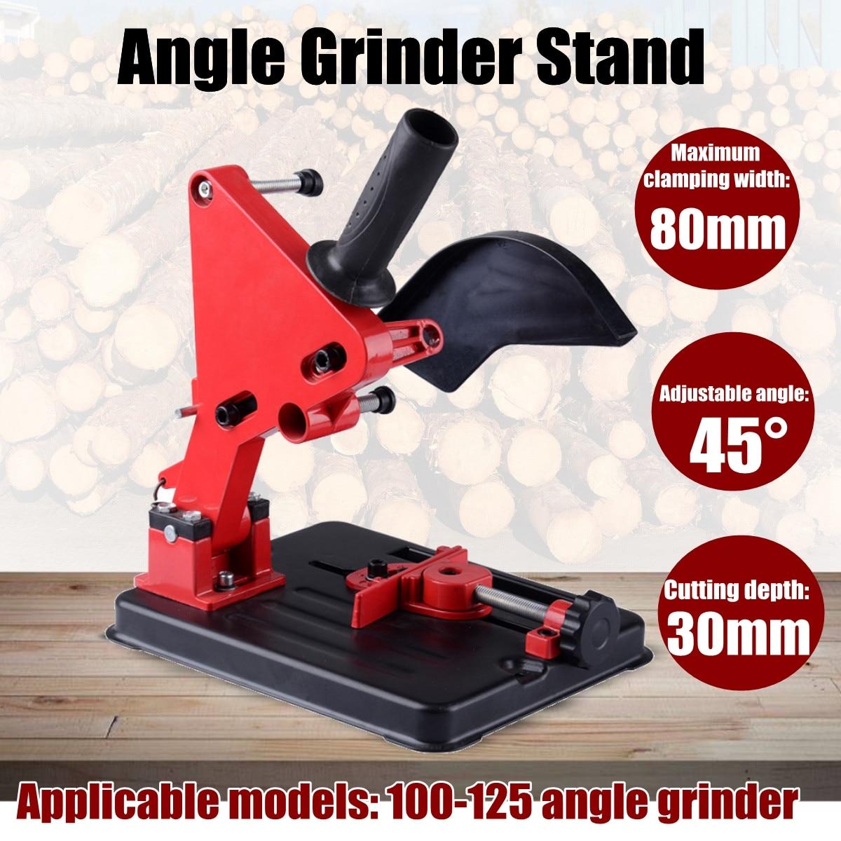 Angle Grinder Stand Angle Grinder Bracket Holder Support for 100-125 Angle Grinder aluminum angle grinder bracket holder