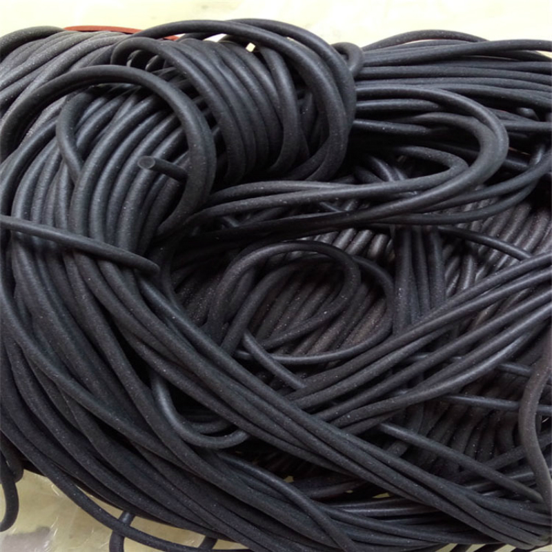 Black Foamed Silicone Rubber Seal Strip Round Dia1 1.5 2 3 4 5 6 7 8 Mm Oring Line Cord Foaming Rubber Molding Damper Waterproof